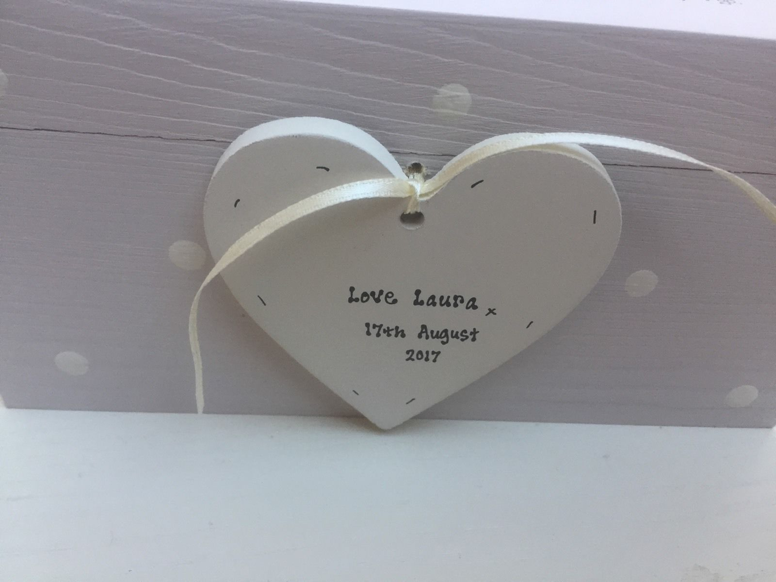 Shabby Personalised Chic Sister On Her Wedding Day Gift BRIDE ANY NAME Heart Box